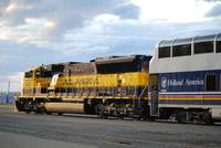 Alaska Rail Road Pulling The McKinley Explorer