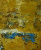 Yellow and Ochre Blue Abstract No. 5