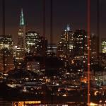 """Golden Gate Bridge  at night panorama"" by canbalci"