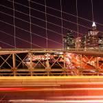 """Lower Manhattan from the Brooklyn Bridge"" by SherriJackson"