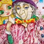 """Alice in wonderland Mad Hatter Cheshire cat painti"" by GORDONBRUCEART"