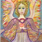 """Rainbow Sun Healing Angel"" by lorrael"