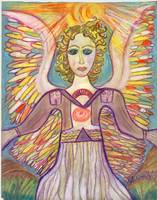 Rainbow Sun Healing Angel