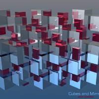Cubes and Mirrors Art Prints & Posters by Jean Messieu