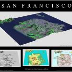 """3D Perspectives of San Francisco-Black"" by BTMaps"