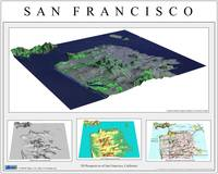3D Perspectives of San Francisco-Grey