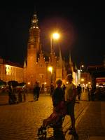 Wroclaw Town Hall at night