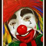 """""""Close Up Kid 2  Kid Clowns Painting"""" by psovart"""