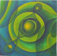 Abstract Green and Yellow -  SOLD