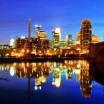 """""""Minneapolis at night"""" by jpnuwat"""