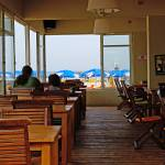"""Cafe on a beach in Tel Aviv, Israel"" by zlazk"