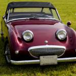 """Burgundy Bugeye Sprite"" by janesclassiccarphotos"