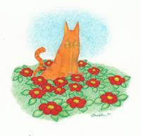 Cat_in_Flowers