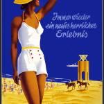 """Travel Poster Vintage Nordseebad Norderney"" by shanmaree"