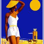 """Travel Poster Vintage Nordseebad Norderney (2)"" by shanmaree"