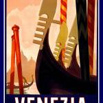 """Venezia Vintage Travel Poster"" by shanmaree"