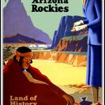 """Vintage Travel Poster New Mexico Arizona Rockies"" by shanmaree"