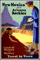Vintage Travel Poster New Mexico Arizona Rockies