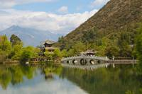 Traditional chinese garden, Lijiang, China