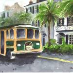 """East Battery Trolley"" by LaurenMaurerStudio"