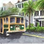 """""""East Battery Trolley"""" by LaurenMaurerStudio"""