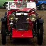 """Red MG J From the Front"" by janesclassiccarphotos"