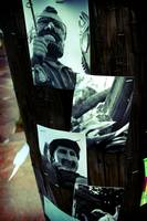 Pictures on a lightpost