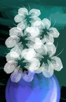 Digital painting of flower