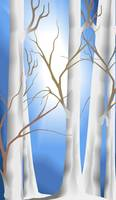 Digital painting of trees