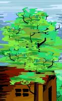 Digital painting of tree.
