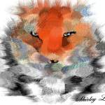 """Abstract Tiger"" by ShirleyLepe"