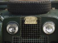 Land Rover Grill and Headlights