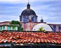Roof Tiles and Church
