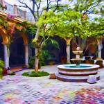 """Villa Hermosa Courtyard #2"" by johncorney"