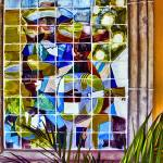 """Ceramic Tile Artwork with Palm"" by johncorney"