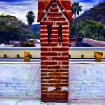 """Red Brick Chimney Stack"" by johncorney"