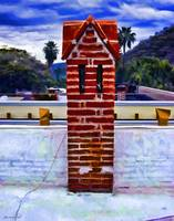 Red Brick Chimney Stack