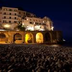 """Amalfi Beach with Arches"" by JohnWurth"