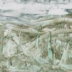 """Encaustic Green Marsh"" by JonathanDeutsch"
