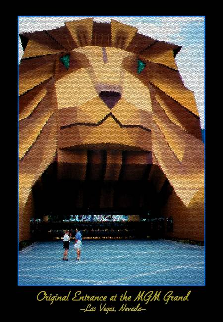 Original MGM Grand Lion Entrance in Las Vegas