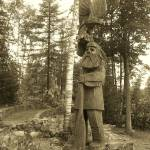 """Camp Vermilion French Voyageur Carving - Cook, MN"" by MarkOdland"
