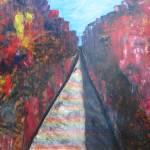 """""""Rainbow Road"""" by car"""