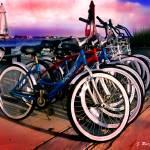 """Beach bicycles"" by jruiz"