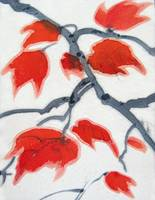 Autumn Leaves on Silk