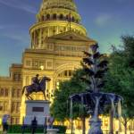 """Texas Capitol with fountain - HDR"" by DaveMaguire"