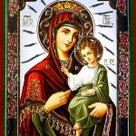 """Virgin Mary and Jesus icon"" by Dessie"