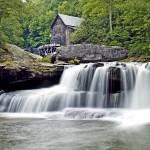 """Waterfall Below Old Grist Mill, Babcock State Park"" by BrendanReals"