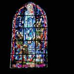 """Stain Glass Window St Mere Eglise"" by ChrisDorren"