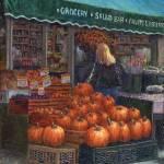 """""""Pumpkins for Sale"""" by susansartgallery"""