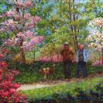 """In the Azalea Garden"" by susansartgallery"